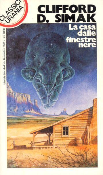 176  LA CASA DALLE FINESTRE NERE 11/1991  WAY STATION (1963)  Copertina di  Oscar Chichoni   CLIFFORD D. SIMAK