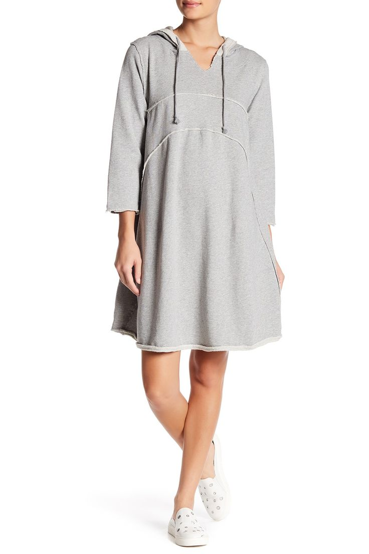 Seamed Yoke Curve Hoodie Dress