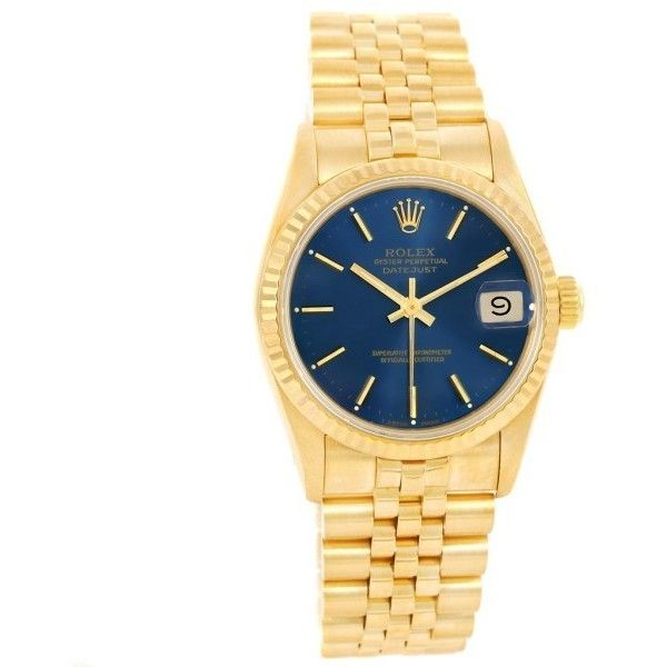Elegant Pre owned Rolex President Datejust K Yellow Gold mm Womens