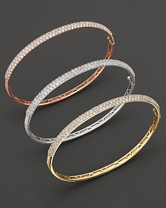Pavé Diamond Bangle In 14 Kt Yellow Gold 1 85 Ct T W Bloomingdale S Accessories Show 2018 Pinterest And Jewelry