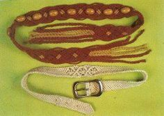 How to Macrame Two Beautiful Belts - Buckle Belt and a Tie Belt