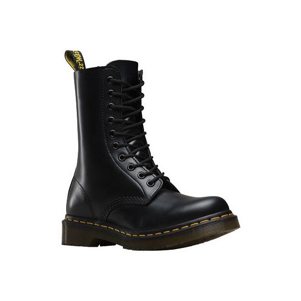 Women's Dr. Martens Original 1490 DML - Black Smooth Casual ($140) ❤ liked on Polyvore featuring shoes, black, casual, originals, dr. martens, dr martens footwear, black shoes, kohl shoes and dr martens shoes