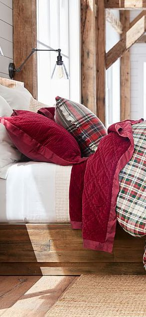 25 best ideas about plaid bedding on pinterest winter bedding plaid bedroom and log cabin. Black Bedroom Furniture Sets. Home Design Ideas