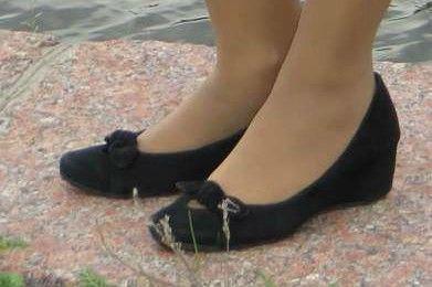 Замшевые туфли на платформе, замша натуральная в хорошем состоянии, 37 размер написано, 23,5 см по стельке - 90 грн.