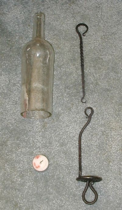 Wine Bottle Tea Lights Parts | Wine Bottle Candle Lamp