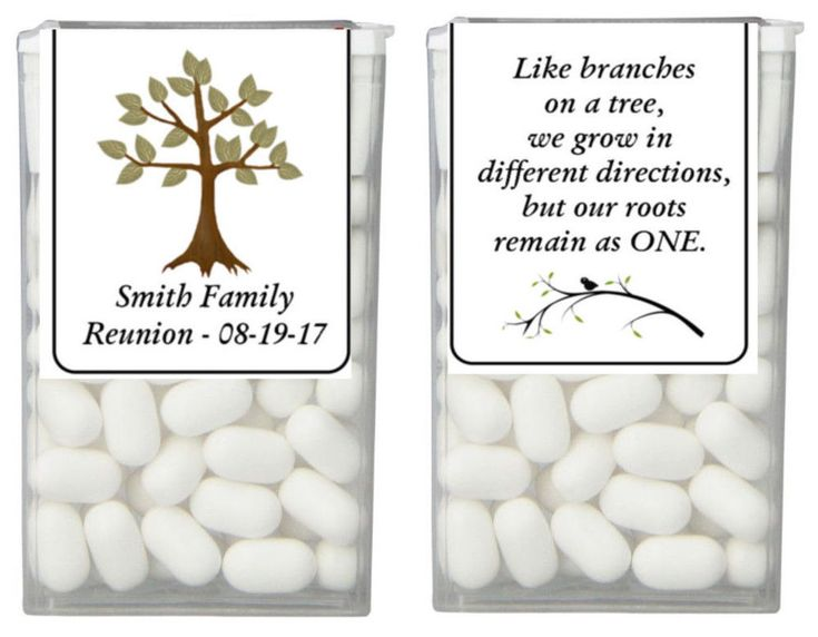 28 Family Tree Family Reunion Party Favor Tic Tac Labels Stickers #CustomMade #FamilyReunion