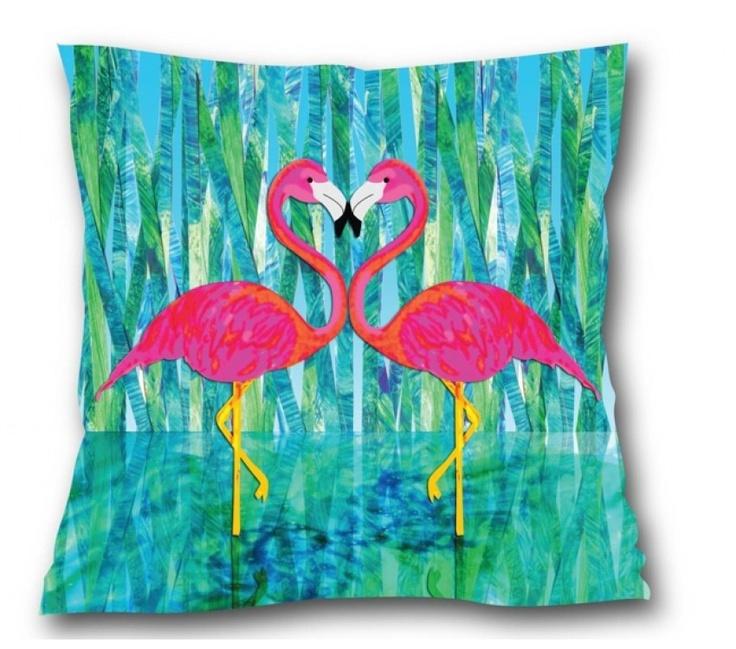 Flamingo Love Cushion