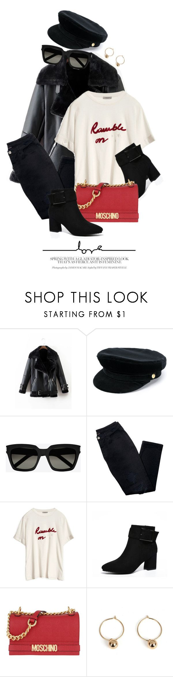 """""""Feb 21"""" by monmondefou ❤ liked on Polyvore featuring Manokhi, Yves Saint Laurent, Avon and Moschino"""