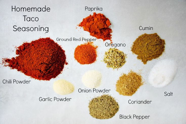 Homemade Taco Seasoning Ingredients - Cheaper and tastier! This is my favorite seasoning ever!
