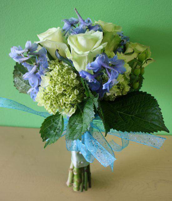 Blue Flower For Prom 100
