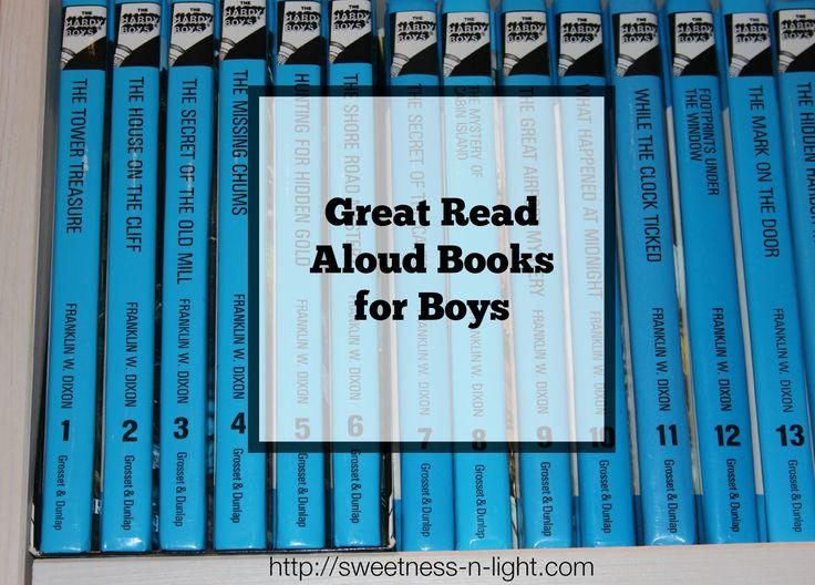 ON THE BLOG: Great Read Aloud Books for Boys   via Sweetness-n-Light and @ihomeschoolnet #ihsnet #hopscotch