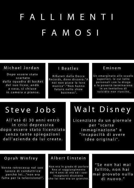 Fallimenti famosi,  non c'e' che da sperare di fallire come loro