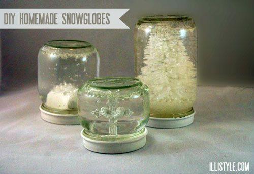 DIY snowglobes - illistyle.com