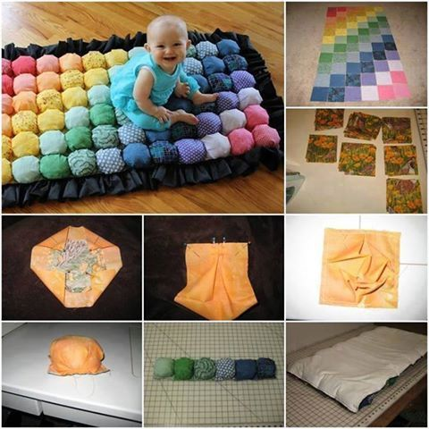 How To Make a Comfy and Colorful Bubble Blanket