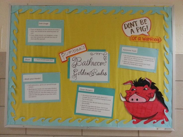 RA bulletin board for our lion king floor! Someone tore down a rule off the top :(