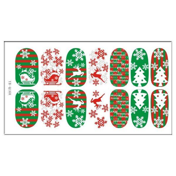 Nagelkunst Aufkleber Nail Sticker Nagel Fingernägel Tattoo Weihnachts Design Neu   eBay