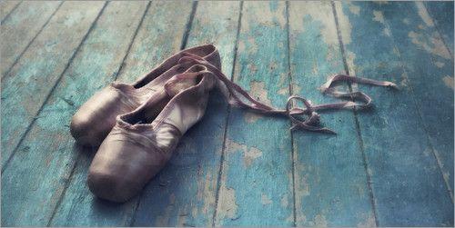 rosa Ballettschuhe Bilder: Poster von Piri bei Posterlounge.de