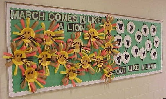March Display. Did this a couple years ago and the kinders loved it :)