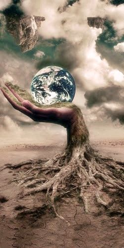 This photo is very interesting because it looks so real, making it seem like the earth is in our hands and we need to take care of it. There are a lot of questions that could be asked about it but i think this is really good. I couldn't find the source.