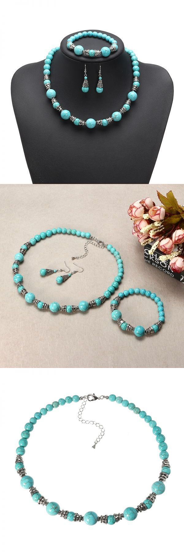 Jewelry set 2015 jassy® platinum plated turquoise beads retro ethnic fine jewelry set best gifts for women #bridal #jewelry #set #2015 #jewelry #set #for #baby #girl #knot #jewelry #set #korean #jewelry #set #wholesale
