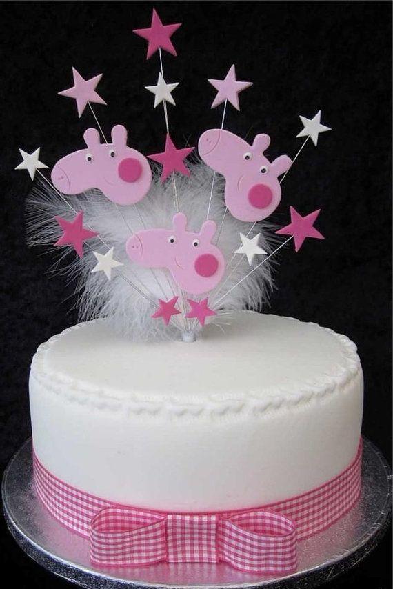 Peppa Pig Cake Topper Peppa Pig Birthday Pinterest