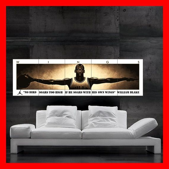 Michael Jordan Poster huge giant mj wings I can Fly by KOKOLOKKO, one of my favorite posters ever