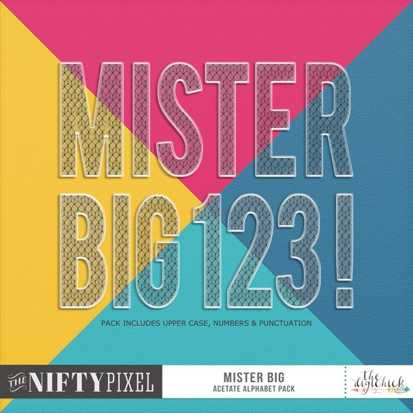 MISTER BIG | Alpha This big and strong alpha is perfect for getting your point across! Create bold titles or use just one letter to really make a statement. This alpha has a c-thru  acetate effect with a netting pattern for added interest. It's ideal for layering over other elements or tucking into those pesky gaps without dominating or making off your other elements. Using this alpha in your projects you'll really be making a statement.