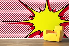 Dotted Explosion Pop Art Mural
