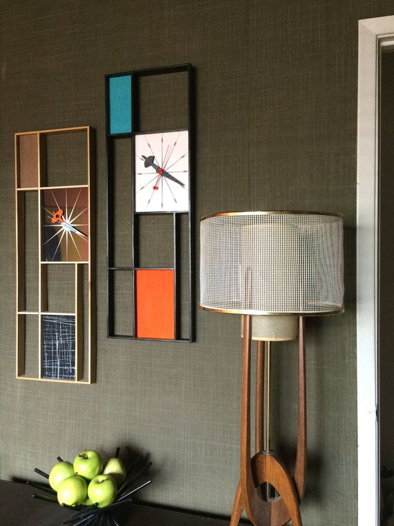 Large 3 ft Mid Century Modern Art Mondrian by Jetsetretrodesign