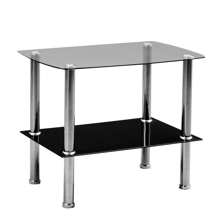 Glas Beistelltisch In Schwarz Sicherheitsglas Und Metall Jetzt Bestellen Unter Glass 2019 Metal Coffee Table Glass Table Side Table