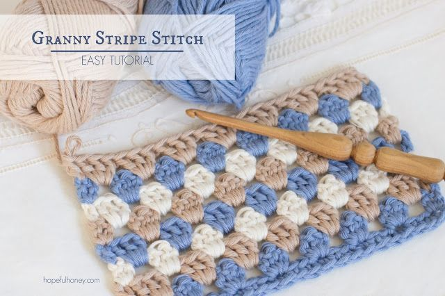 Hopeful Honey | Craft, Crochet, Create: How To: Crochet The Granny Stripe Stitch - Easy Tu...