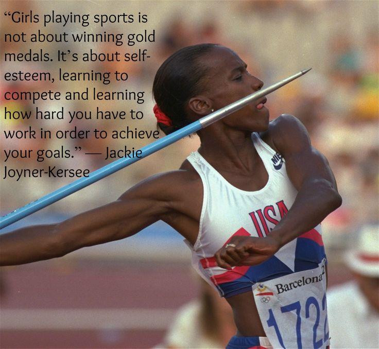 Jackie Joyner-Kersee on girls in sport