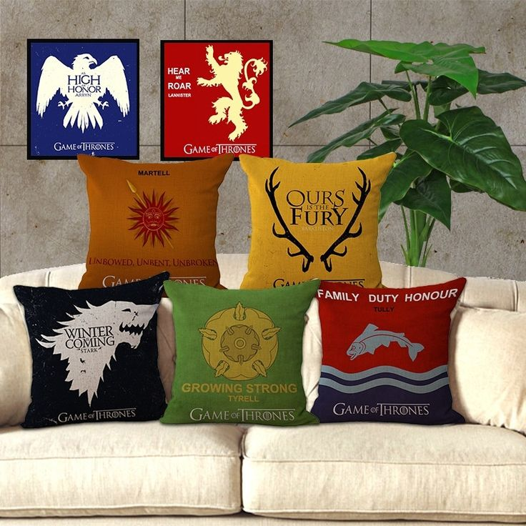Game of Thrones Decorative Cushion Cover For Flag Chair Seat Sofa Throw Pillows //Price: $15.00 & FREE Shipping //     #got07