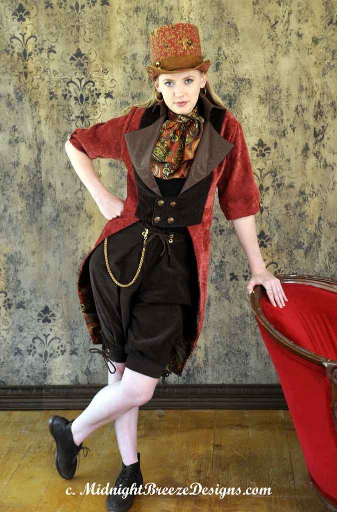 Ladies Steampunk / Neo-Victorian Jacket, Breeches Set - Small, Ready to Wear. $145.00, via Etsy.: Steampunk Fashion, Ladies Fashion, Steam Jackets, Ladies Steampunk, Neo Victorian Jacket, Playing Dress Up, Breeches Set, Fashion 101, Seat Belts