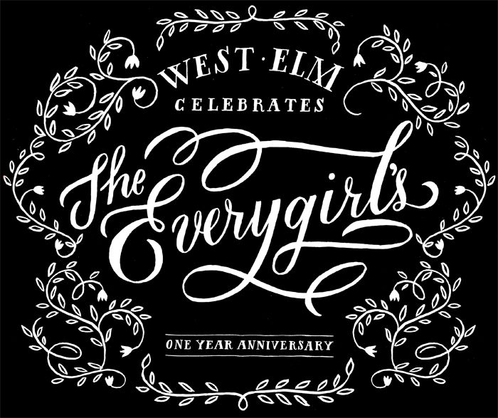 THE EVERYGIRLS...  #lettering #handlettering by Molly Jacques