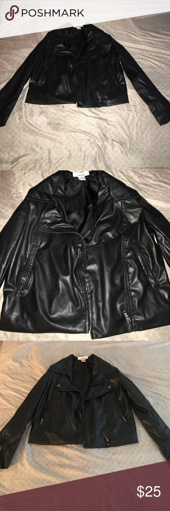 Faux leather jacket Black faux leather jacket in good condition. Perfect medium size. Never worn and not unif! UNIF Jackets & Coats