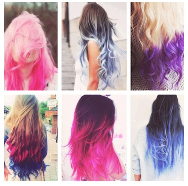 Different styles of dipdyed hair  Fashion