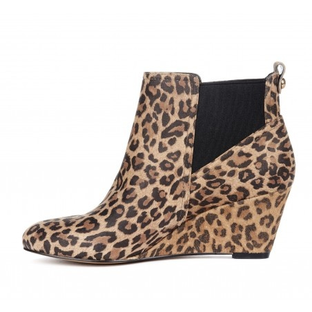 {the Addison ankle boot} in leopard print - fabulous!: Fabulous Shoes, Ankle Boots, Prints Boots, Dresses Nic Shoes, Leopards Prints, Cheetahs Boots, Wedges Boots, Shoes Addiction, Leopards Bootie