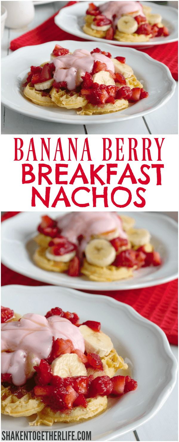 Nachos for breakfast? You betcha! These Banana Berry Breakfast Nachos are a sweet way to start the day!