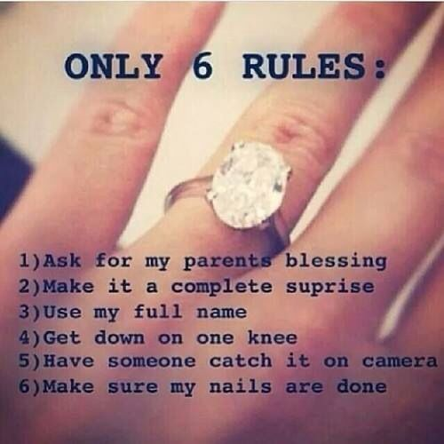 6 (Stupid) Rules for Proposing