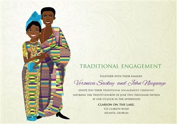 11 best invitation images on pinterest traditional wedding obaa sweety ghanaian traditional wedding invitation stopboris Image collections
