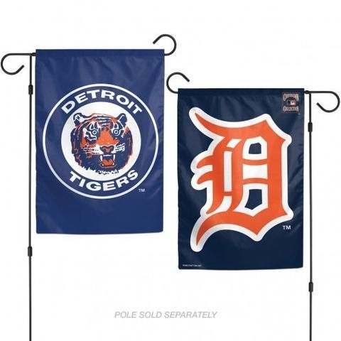 MLB Detroit Tigers Cooperstown Collection 2 Sided Garden Flag