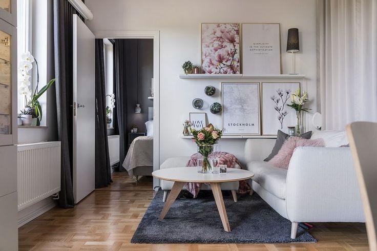 Pici lakás pazar tetőterasszal - 36m2-es kényelmes kis otthon ahol a nőies és markáns elemek kiegészítik egymást