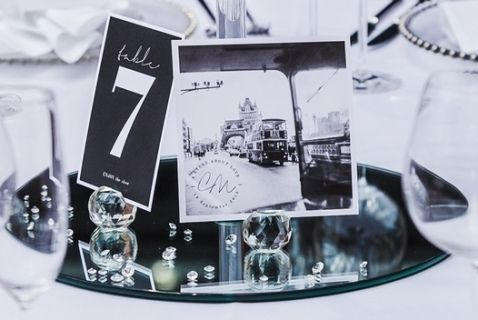 Crystal Ball Table Number Holders