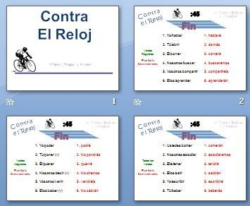 Activity to Practice Verb Forms in a Foreign Language