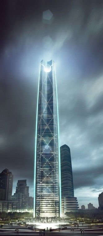Kunming Junfa Dongfeng Square, Kunming, China by Skidmore, Owings & Merrill (SOM) :: hieght 456m