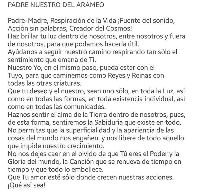Padre Nuestro En Arameo Mi Oración De Amor Favorita De La Vida Buena Semana Gente Bella Así Sea Amorparatodos Devajot Spanish Prayers Prayers Buena