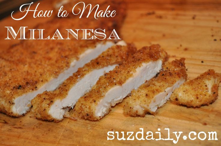 Very simple method to prepare breaded chicken - milanesa de pollo as it is called in Mexico.  Stop buying frozen chicken nuggets and make this at home!  Family favorite!