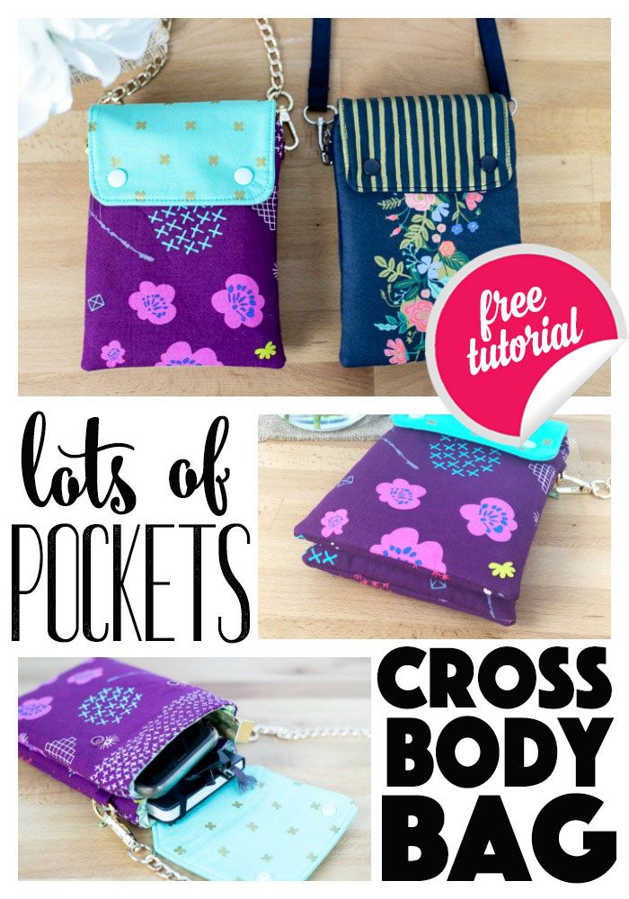 Lots of Pockets Cross Body Bag – Free Sewing Pattern!