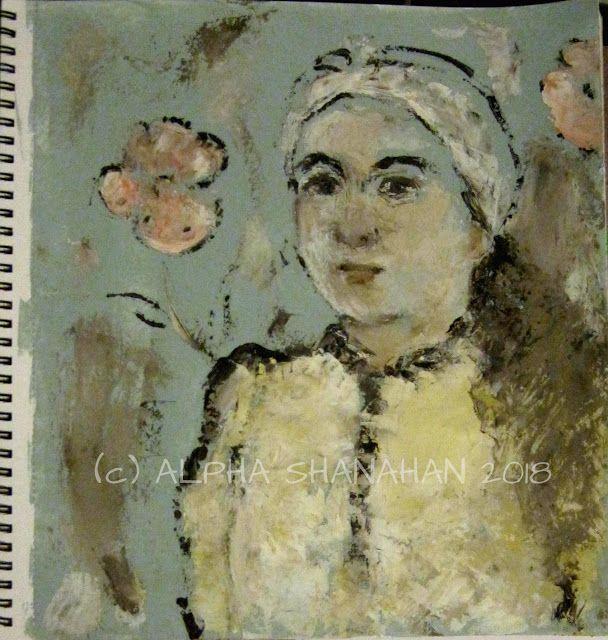 ALPHA SHANAHAN FINE ART: Portrait, sketchbook.